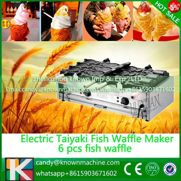 220V 110V type 6 pcs Non-stick Taiyaki Baker Maker Machine