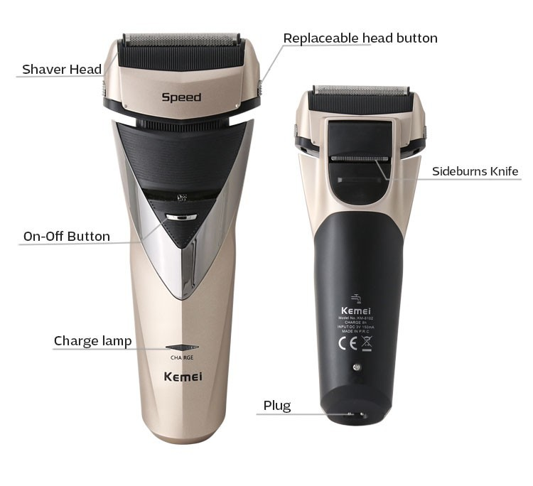 KM-8102 Electric Shaver (3)