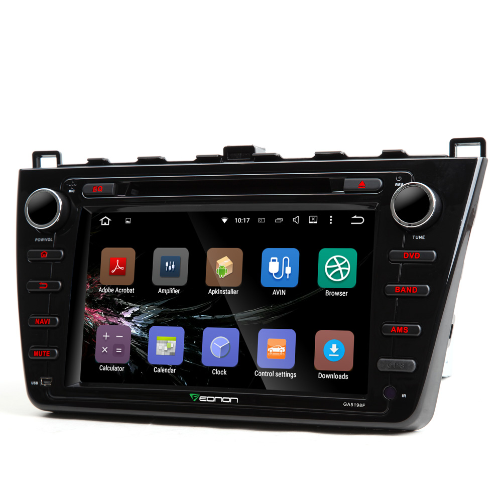 """8"""" Android 5.1.1 OS Special Car DVD for Mazda 6 2009-2012 with One Key Screen Off Function & Video Output from All Modes Support(China (Mainland))"""