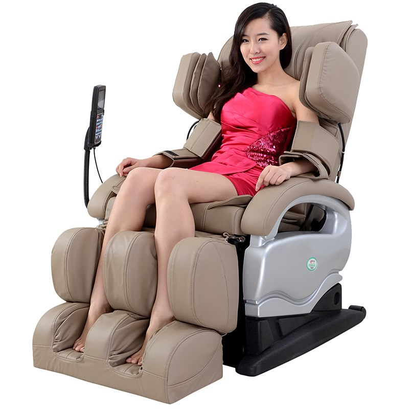 free shipping Luxury multifunctional massage chair 31 -60 airbags LCD + heating Free installation full-body massage chair(China (Mainland))