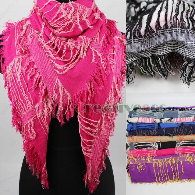 Женские унисекс классические модный мода стильный большой косынка и длинный шарф ...
