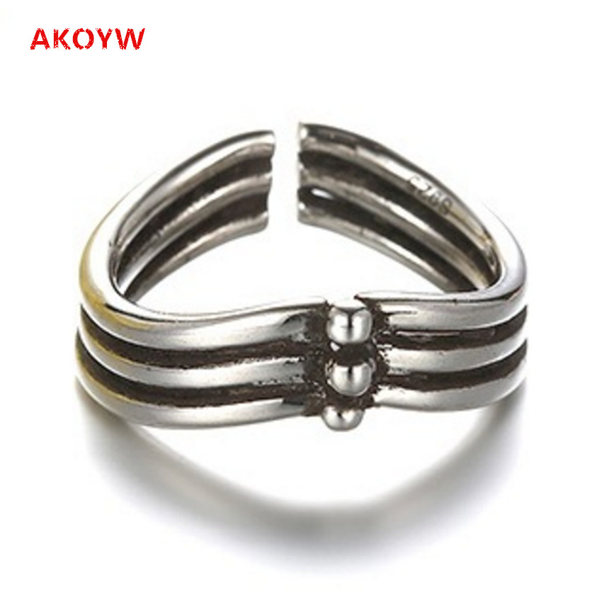 High quality Silver plated ring opening retro fashion ladies heart-shaped crown jewelry Thai silver adjustable ring opening men(China (Mainland))