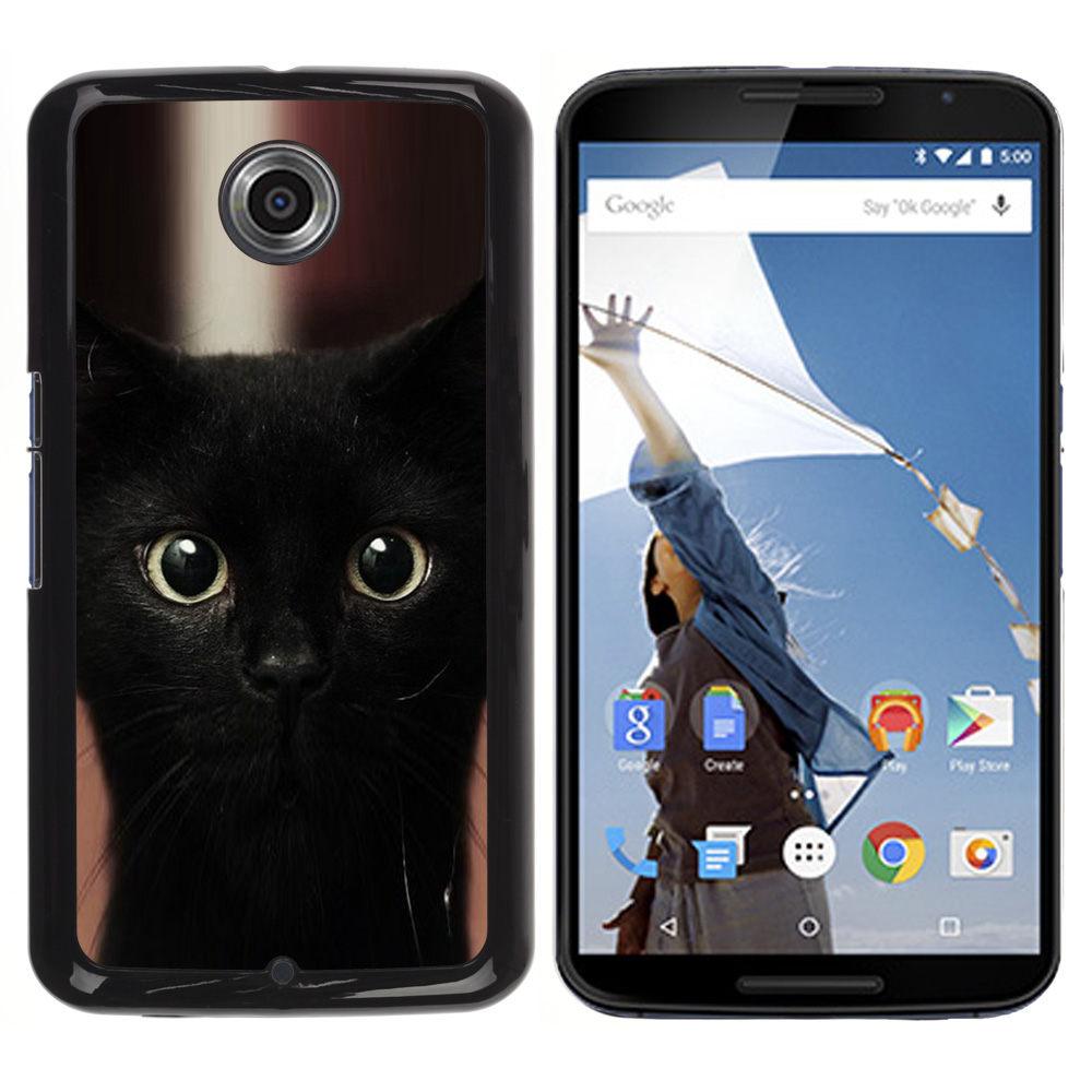 Black Kitten Cat Bombay Nebelung-Snap On Hard PC Back Shell Case For Motorola NEXUS 6 / X / Moto X Pro (NEXUS6-3005060)(China (Mainland))
