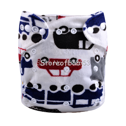 Baby diapers machine washable minky cloth diapers pul fabric all in one size (5 sets)(China (Mainland))