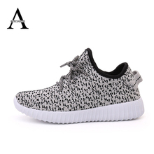 2016 Autumn Children Shoes Handicraft Solid YEEZY Sports Sneaker Flat Casual Boy Shoes Soft Breathable Coconut Girls Shoes 25-37(China (Mainland))