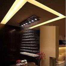 100cm Large Size New Modern Design Crystal Light Pendant Lamp Suspension Lighting Rain Drop(China (Mainland))