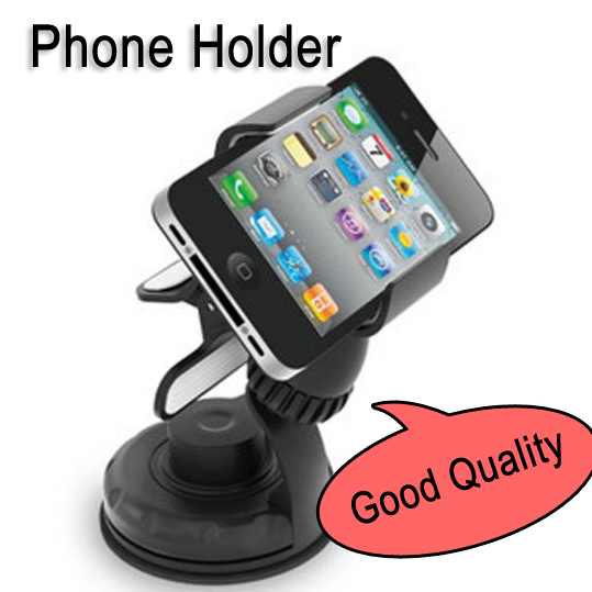 Combo phone holder+Micro USB + car charger for Iphones/4s/5 for Samsung/for HTC/GPS Navigator stick on windshield/air outlet
