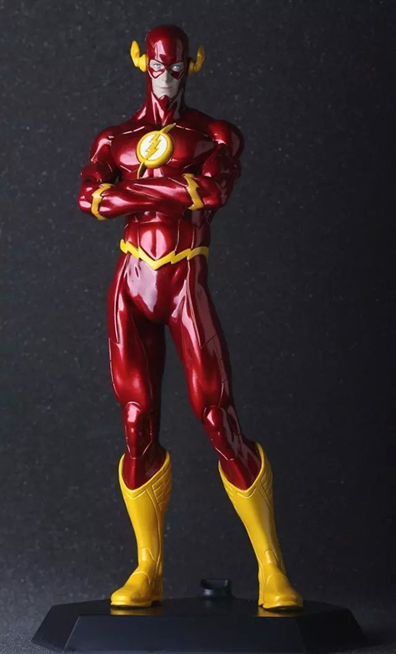 Hot Sale DC Comic Justice League Super Hero The Flash Crazy Toys Figurine 25CM Action Figure Collectible(China (Mainland))