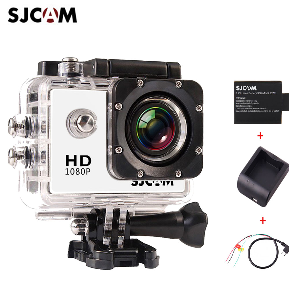 SJCAM SJ4000 Full HD 1080P Extreme Sport DV Action Camera Diving 30M Waterproof+ Extra 1pc Battery + Battery Charger + AV Cable
