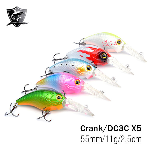 New 5 Pieces DC3C Saltwater Fishing Lure Minnow Crankbait Hard Bait Crank Fishing Lure Hard Bait Fishing Lures China Lot(China (Mainland))