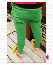 New Kid Clothing Hot Girls Jeans Candy Color Skinny Children Pants Baby Casual Long Pants Kids