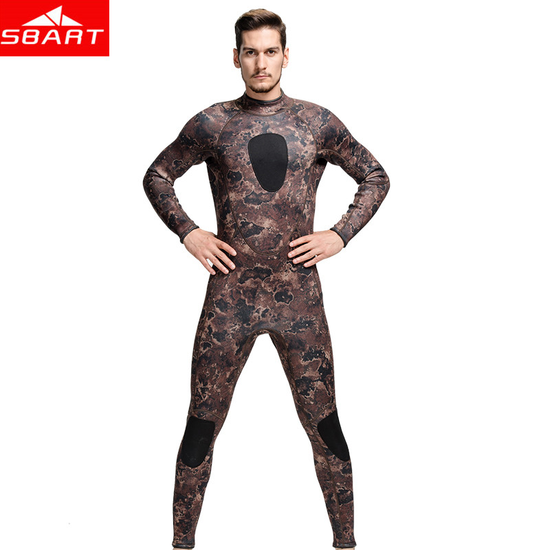 Camouflage 3MM neoprene surf wetsuit warm piece swimsuit thickened diving suit for men long-sleeved winter swimming wetsuit <br><br>Aliexpress