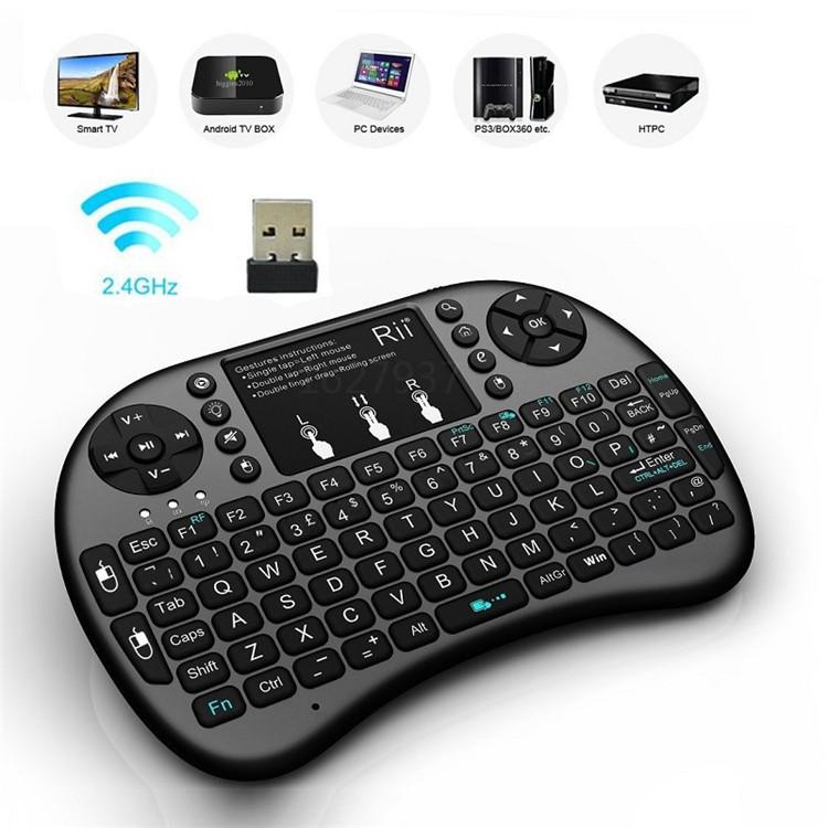 Hot Sale 2.4G Rii Mini i8 Wireless Keyboard Touchpad for Tablet PC iPad Mini Google Andriod Smart TV Box Xbox360 PS3 HTPC/IPTV(China (Mainland))
