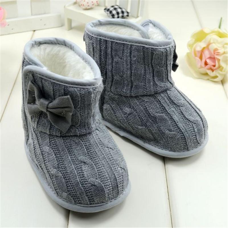 b b fille tricot bottes bowknot faux polaire douce sole. Black Bedroom Furniture Sets. Home Design Ideas