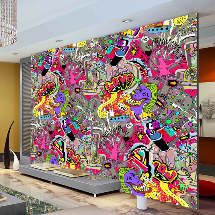 Graffiti boys urban art wallpaper 3d photo wallpaper for Boys wall mural