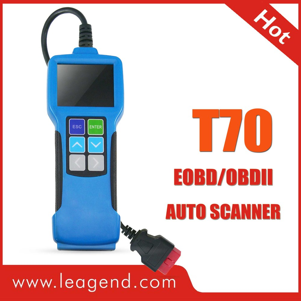 HOT! OBD2/EOBD vehicle engine scan gauge for Japanese car /auto code scanner color-screen T70-view live data ,updateable(China (Mainland))