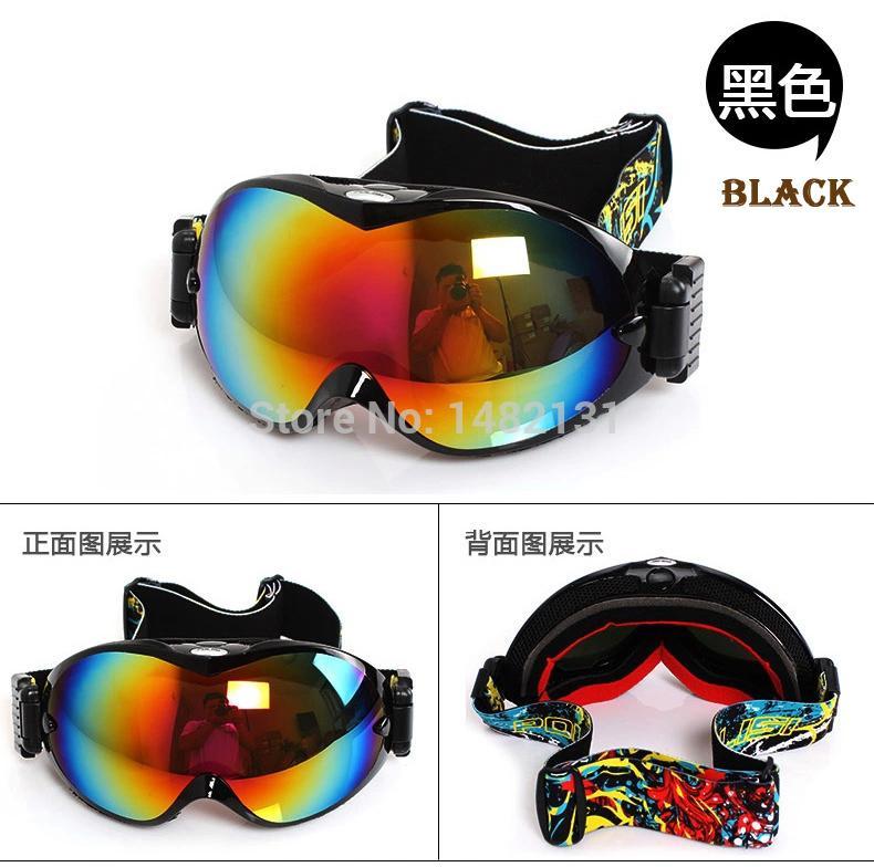 men women double lens anti-fog spherical professional ski glasses multicolor snow goggles skiing eyewear ultraviolet-proof(China (Mainland))