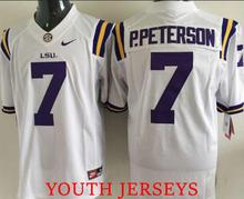 High-quality fit size #7 Leonard Fournette Odell Beckham Jr Tryann Mathieu Patrick Peterson FOR YOUTH free shipping(China (Mainland))