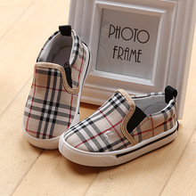 Hot Sale Stripe Plaid Children Shoes Casual Canvas Shoes For Girls Boys Kids Fashion Flats Comfortable Baby Loafers(China (Mainland))