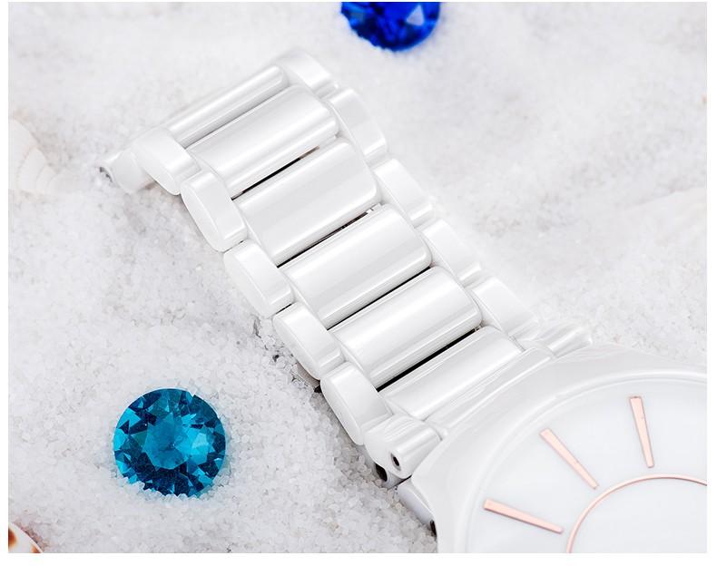 LONGBO Бренд Luxury Влюбленных Керамические Часы 2016 Мода Повседневная Женщины Одеваются Кварцевые Часы Мужчины Водонепроницаемый Наручные Часы Relogio 6075
