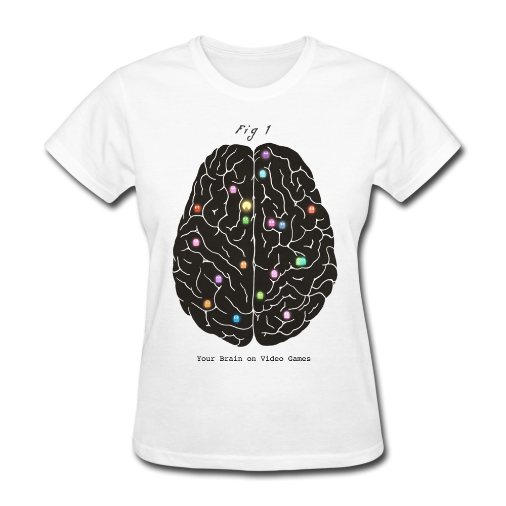Custom Slim Fit T Shirt Women Your Brain On Video Games