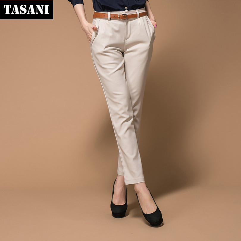 2015 New Summer Korean Style Slim Casual Solid Women Pencil Pants Capris Women Trousers Free Shipping y8481(China (Mainland))