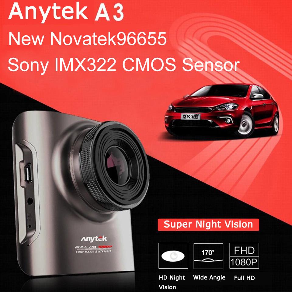 Автомобильный видеорегистратор Anytek  A3 BIDEOPERISTPATOP Anytek A3 DVR Novatek96655 IMX322 CMOS g Blackbox видеорегистратор anytek e500