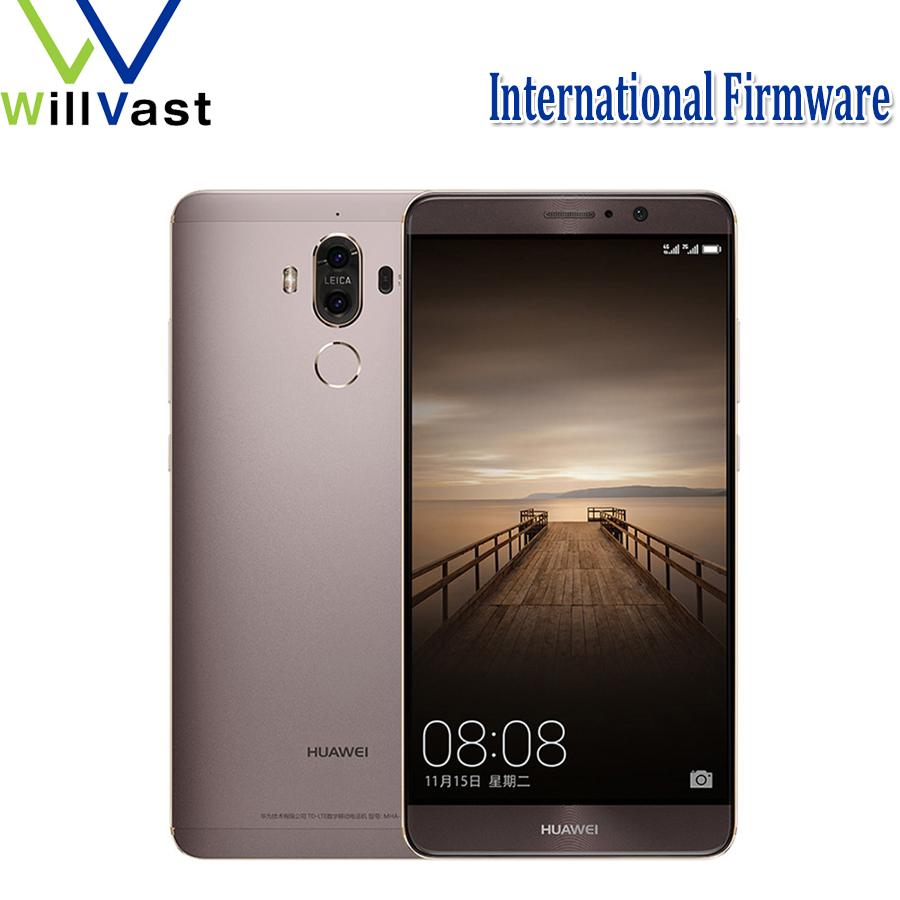 "Original Huawei Mate 9 4G LTE Mobile Phone Octa Core 4/6GB RAM 32/64/128GB ROM 5.9"" HD Android 7.0 Fingerprint ID SmartPhone(China (Mainland))"