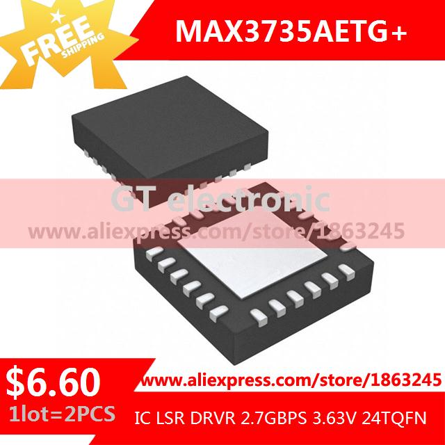 Free Shipping Electronic Components MAX3735AETG IC LSR DRVR 2.7GBPS 3.63V 24TQFN 3735 MAX3735 3735A 2pcs(China (Mainland))