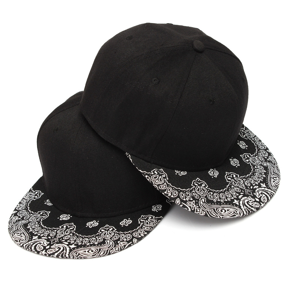 Promotion White Paisley Black Hip Hop Snapback Caps Summer Style Breathable Adjustable Cotton Baseball Caps For Men and Women(China (Mainland))