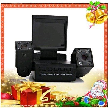 Wholesale! Car black box with dual lens,1280*480 car dvr recorder,2.0M Pixels,new arrivel car camera,Freeshipping!