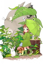 Totoro —2016 Hot sale Japanese Anime Home Decor Scroll Paintings Art Canvas Wall Picture