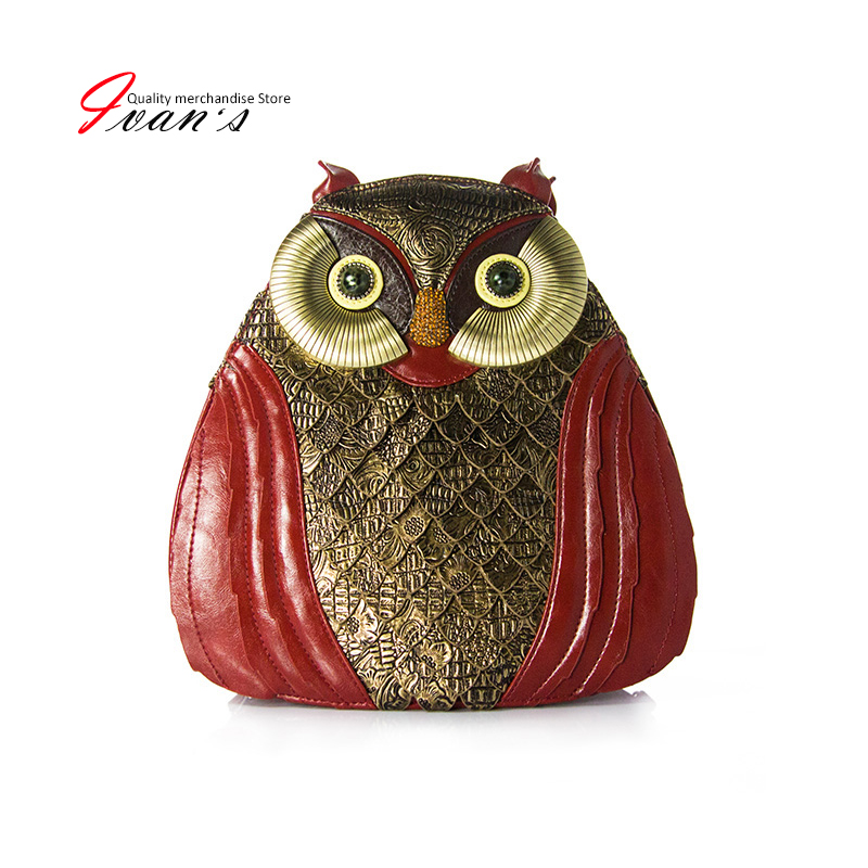 2016 Spring New Fashion Personality handbag &amp; backpack dual-use Exquisite handmade retro owl bags backpack  Womens handbags<br><br>Aliexpress