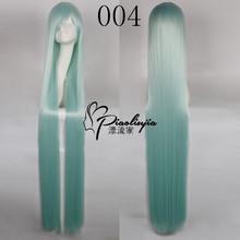 Genesis Evangelion EVA.Asuka,150cm green long straight synthetic hair cosplay costume wig Heat Resistant Hair Wigs Peluca