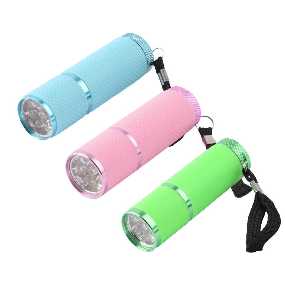 Portable Mini 9 LED Nail Dryer Curing led gel lamp Flashlight Torch For UV Gel nail polish dryer Hot Selling