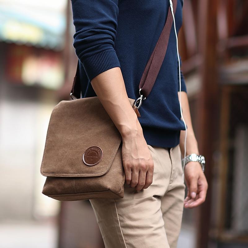 new arrival Man handbag cross-body shoulder bag casual canvas bags vintage messenger bag school handbags(China (Mainland))