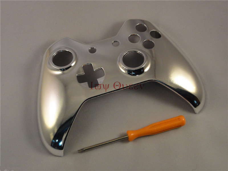 IVY QUEEN Custom Chrome Silver Replacement Front Shell With T8 Tool For Microsoft XBOX One 1 Wireless Controllers case Cover<br><br>Aliexpress