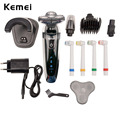 Kemei 4 in 1 Washable Men Electric Shaver Rechargeable Electric Razor Washable Nose Trimmer Beard Cutting