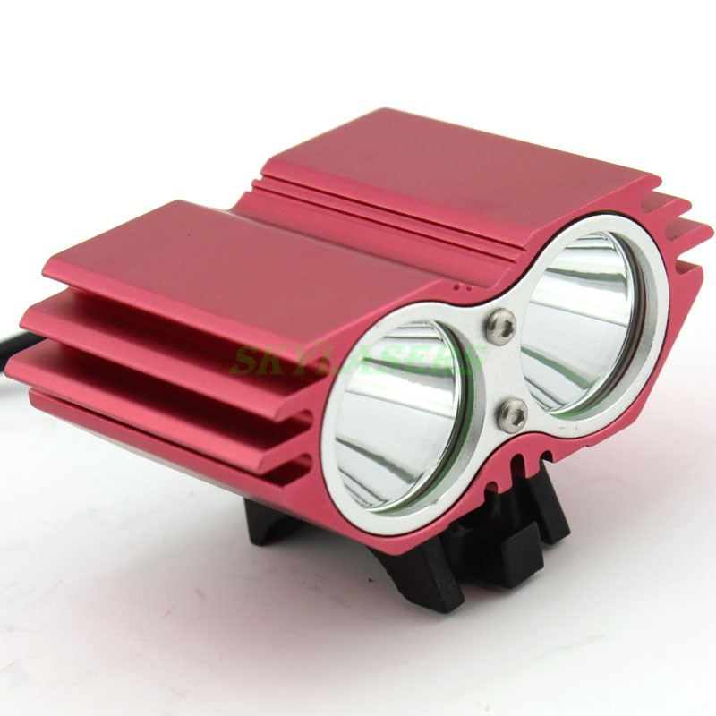 Promotion! 2800 Lumens 2 in 1 Bike front light 2 x CREE XM-L T6 Headlamp Bicycle Light Headlight 4 Modes 8.4V Battery Pack , Red(China (Mainland))