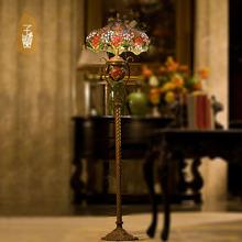 Vanilla Lighting Tiffany lamps Continental complex Gudifuni upscale bedroom living room floor lamp LED bedside lam(China (Mainland))