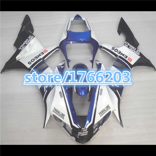 YZF R1 03 02 fairings for YAHAMA YZF-R1 02-03 YZFR1 2003 2002 YZF1000 R1 03 02 fairing kits blue white black(China (Mainland))