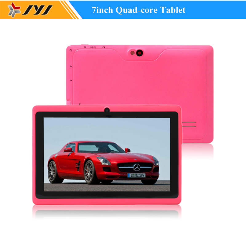 Pink Allwinner A33 Tablet PC 7inch Capacitive 800*480 Quad Core Android 4.4 8GB Cameras WiFi 1.6GHz Google Play Store Tablets(China (Mainland))