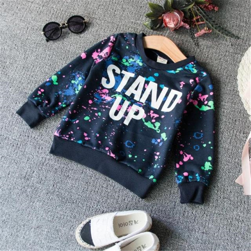 2016 Fashion Letter Printed Children's Sets Unique & Cool Cotton Kids Clothes Sports Cute Round Neck Long Sleeve T-shirt & Pants(China (Mainland))