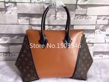 New fashion arrival Fashion classical famous brand design shoulder woolen women Genuine Leather handbag shoulder leather bag(China (Mainland))