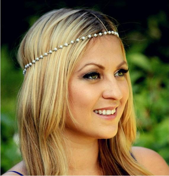 2016 New Fashion Pearl bridal hair accessories Women wedding headband hair jewelry acessories para cabelo tiara CF095(China (Mainland))