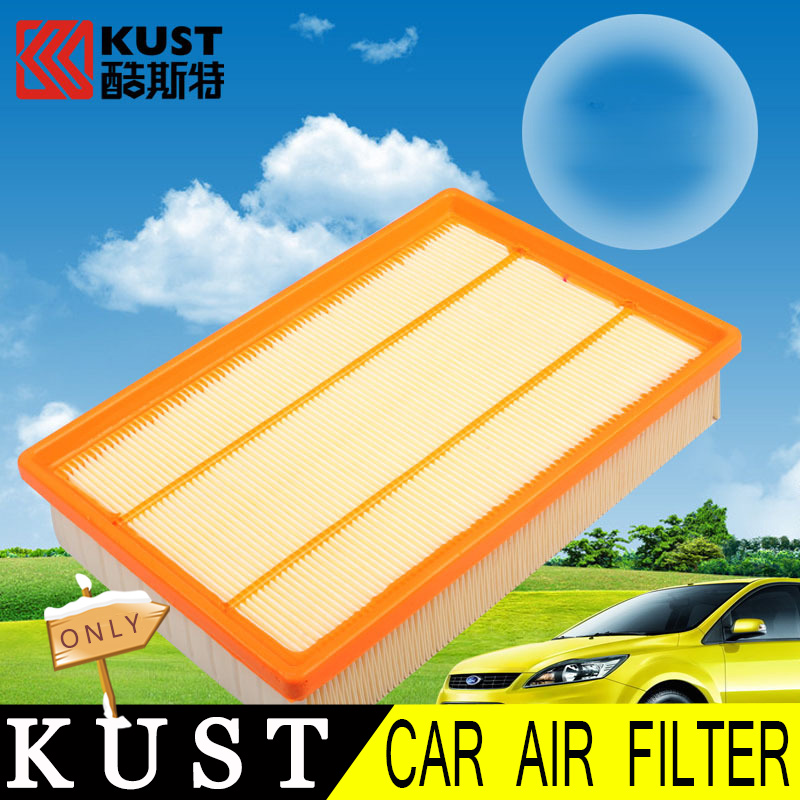 KUST Wood Pulp Air Filter For Focus 2 Car Air Engine Protection Filter For Focus 2 Car Filter For Ford For Focus 2 Accessories(China (Mainland))