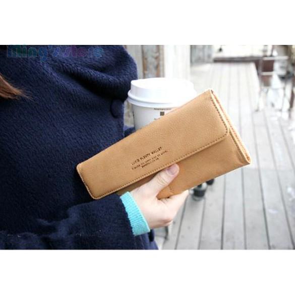 Женщины пу конверт клатч длинный кожаный бумажник дамы портмоне чековая книжка сумочка 50
