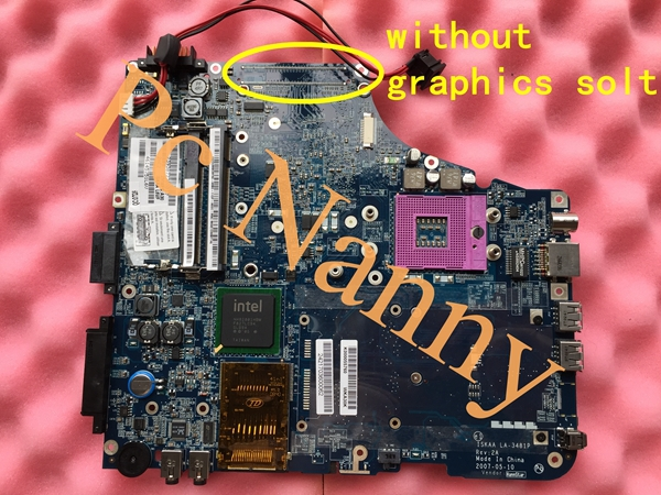 K000055760 ISKAA LA-3481P Laptop motherboard For toshiba Satellite A200 A205 GL960 DDR2 Mainboard Full Tested(China (Mainland))