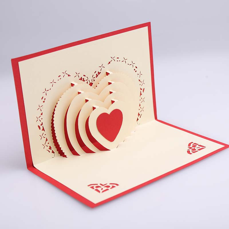 3d pop up heart shape card postcards greeting card decoration happy aeproducttsubject m4hsunfo