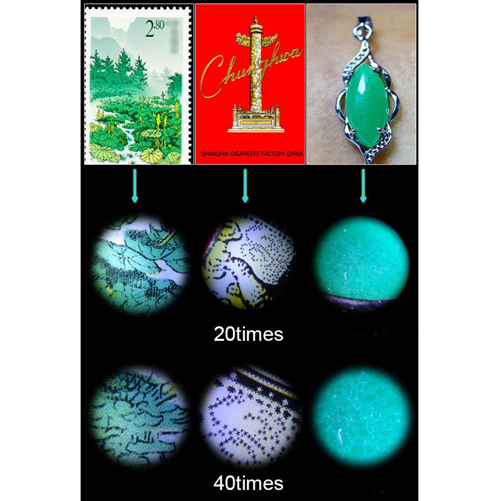 УФ лампа мини лупа печать ювелирных изделий штамп сбор Лупа Стекло светодиодный aeProduct.getSubject()